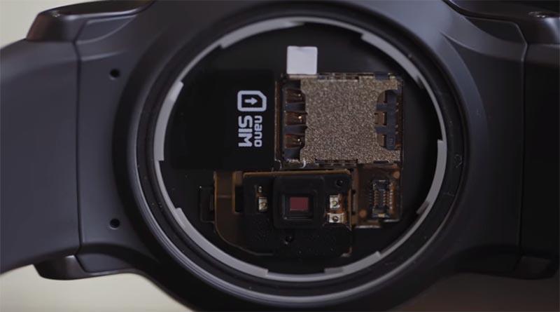 Слот для сим карты в LG Watch Sport