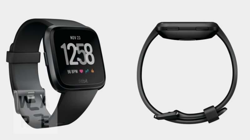 изображения новых умных часов компании Fitbit