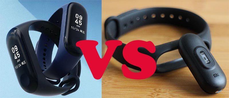 Сравнение характеристик Xiaomi Mi Band 2 и Mi Band 3