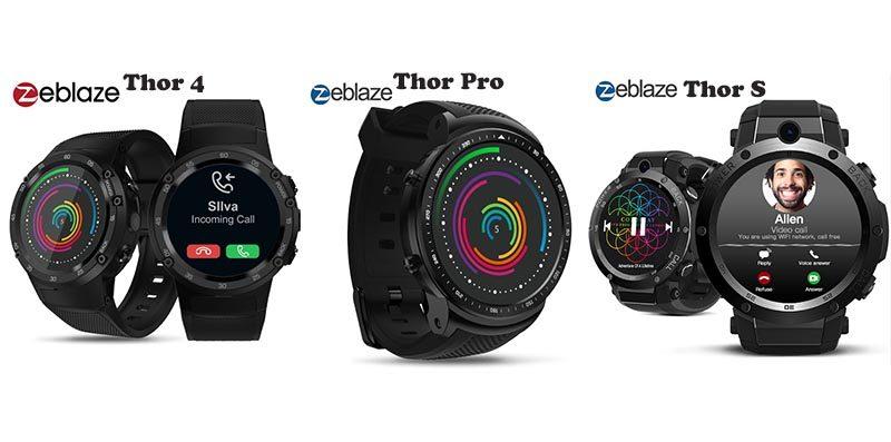 Смарт-часы Zeblaze Thor 4, Thor S и Thor Pro: в чем отличия?