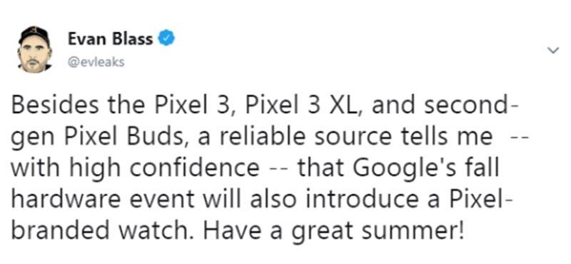 Google готовится выпустить смарт-часы Pixel