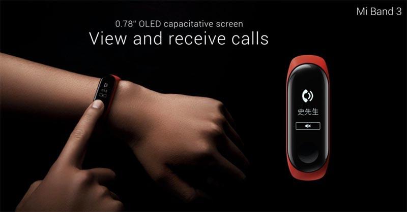 Xiaomi Mi Band 3 с сенсорным экраном и NFC представлен официально