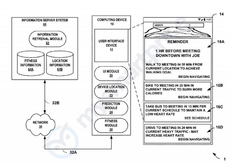 Изображение патента Google