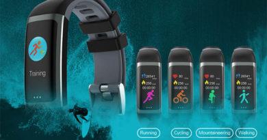 Bakeey G26: стильный фитнес-браслет с измерением пульса и цветным экраном