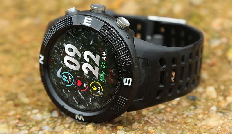 NO.1 F18 смарт-часы для спорта с GPS навигацией, сенсорным экраном и IP68