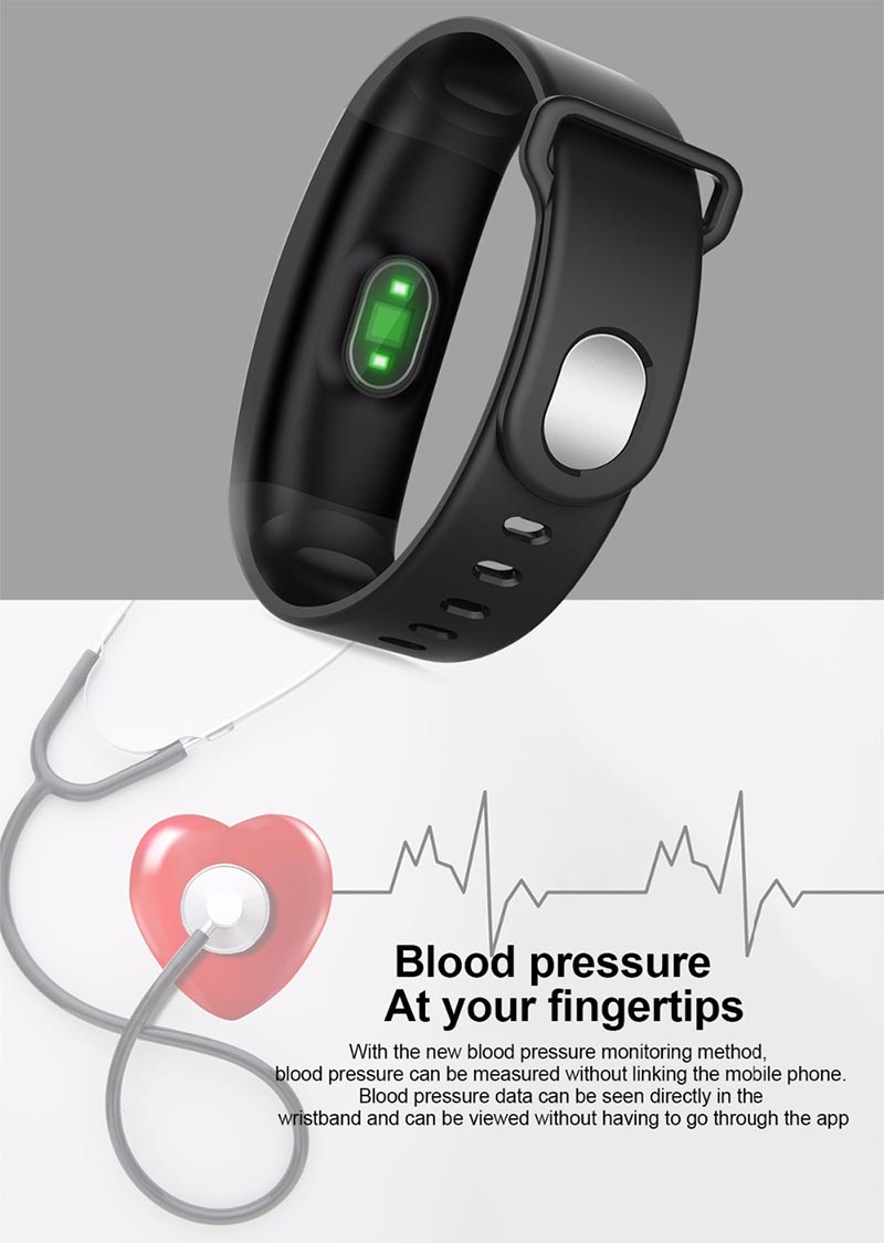 Экран и характеристики QS01 Sports Smart Bracelet