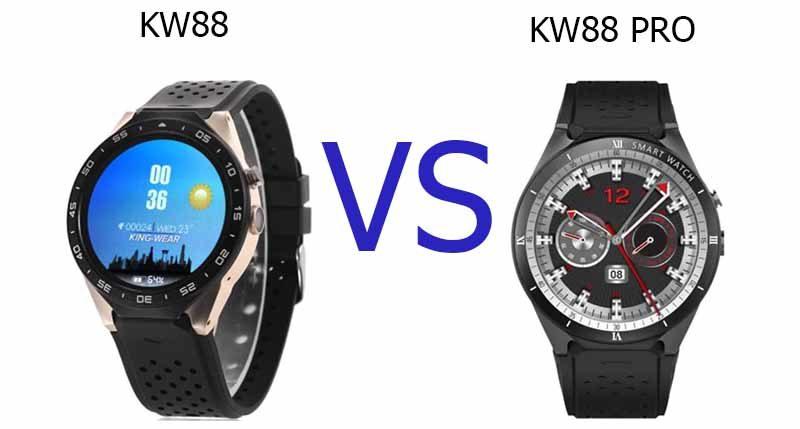 Сравнение умных часов KingWear KW88 и KingWear KW88 Pro