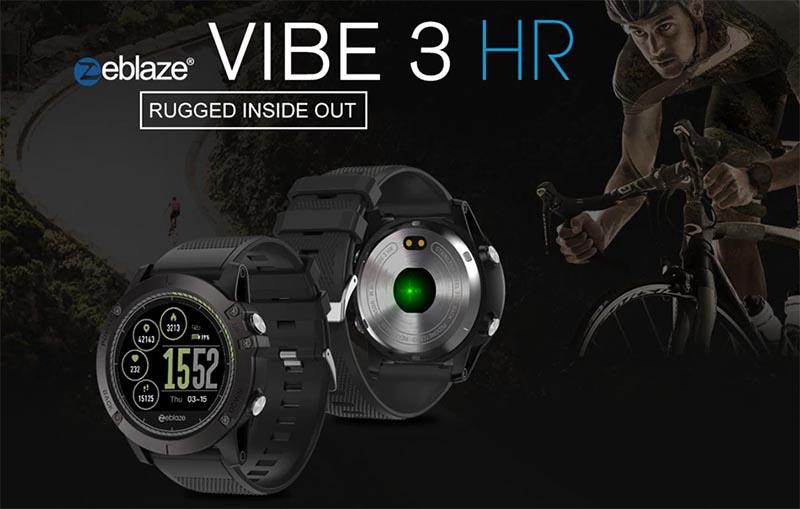 Умные часы Zeblaze Vibe 3 HR с 1,22-дюймовым дисплеем, датчиком пульса и IP67