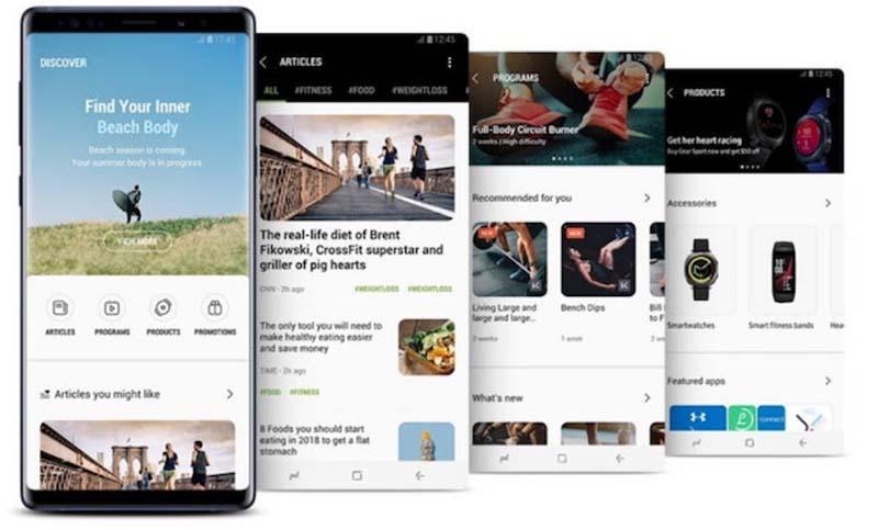 Основные функции и улучшения Samsung Health 6.0