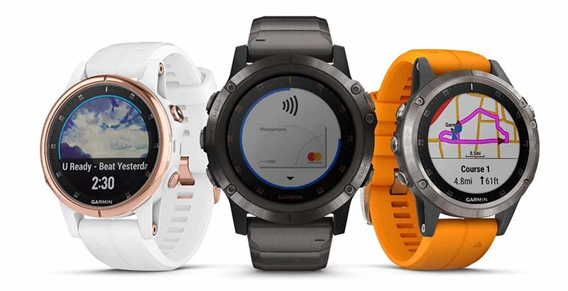 Garmin Fenix ​​5S Plus, 5 Plus и 5X Plus