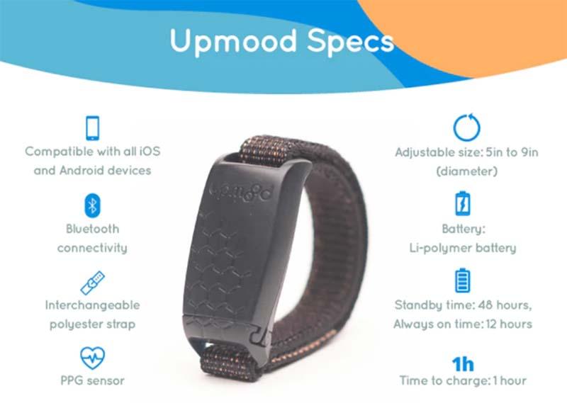 Смарт-браслет Upmood умеет определять настроение и помогает управлять эмоциями