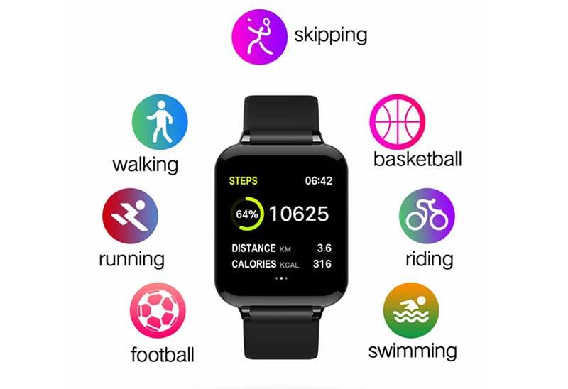 Bakeey B57 – недорогие фитнес-часы с измерением пульса и давления