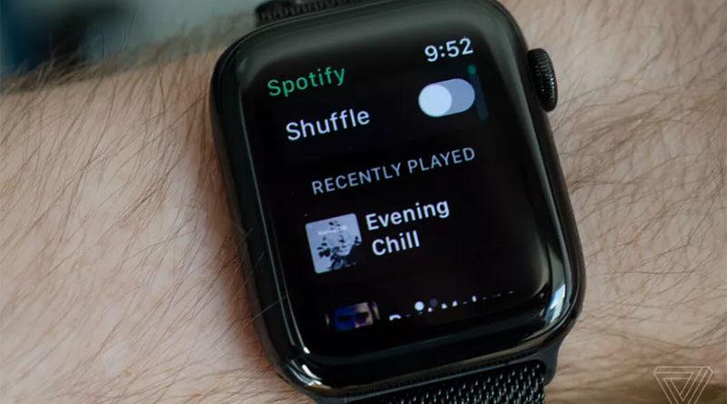 Spotify тестирует приложение для умных часов Apple Watch
