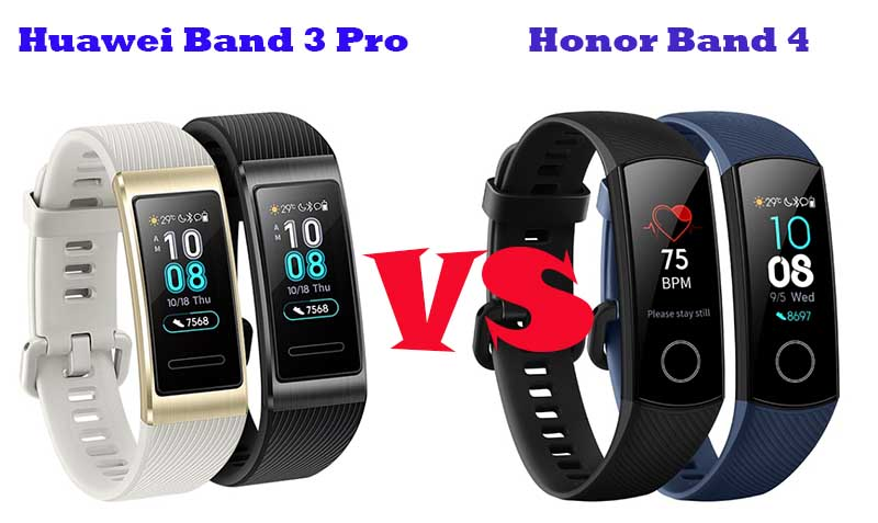 Huawei Band 3 Pro и Honor Band 4