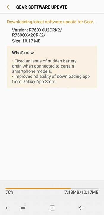 Новое обновление решает проблему с аккумулятором Samsung Gear S3