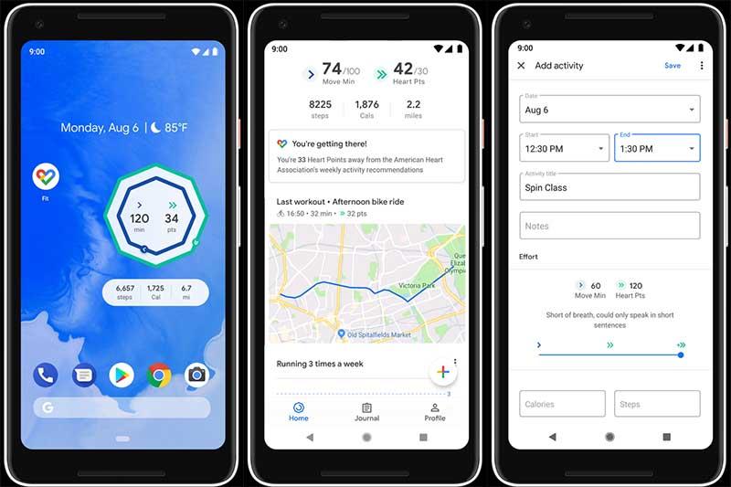 Обновление Google Fit