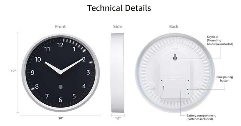 Amazon Echo Wall Clock: настенные смарт-часы за 30 долларов