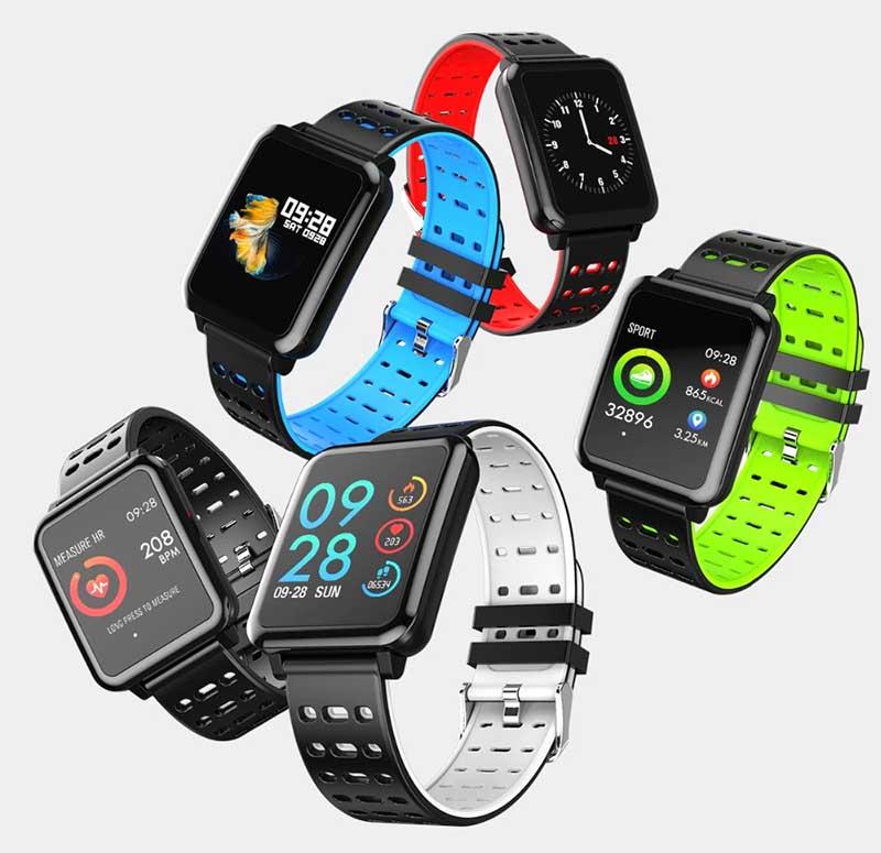 Фитнес-часы с тонометром LEMFO Q8