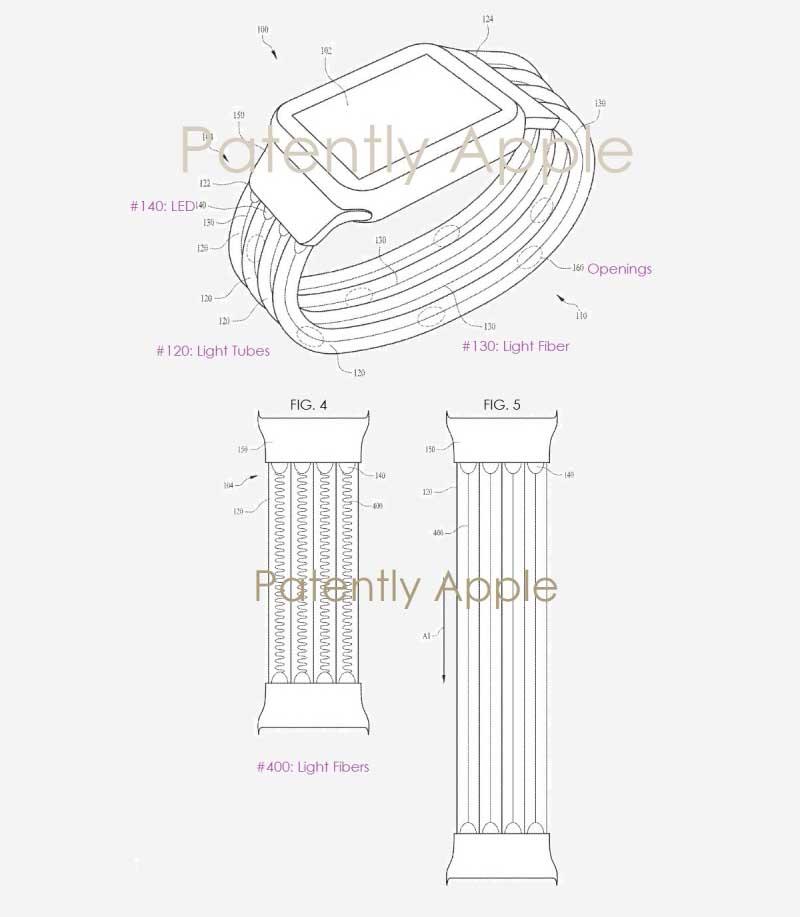 Apple запатентовала светодиодный ремешок для Apple Watch