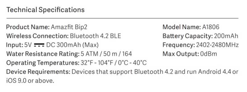 AmazFit Bip 2 сертифицированы FCC