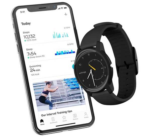Гибридные часы Withings Move представлены на выставке CES 2019