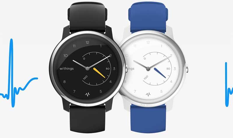 Withings Move ECG: первые в мире гибридные часы с функцией ЭКГ