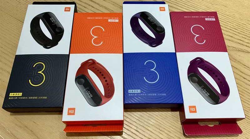 Упаковка Xiaomi Mi Band 3