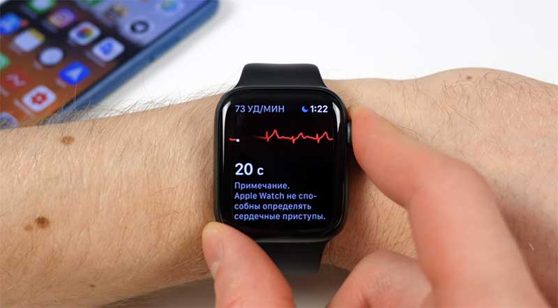 Снятие ЭКГ Apple Watch Series 4