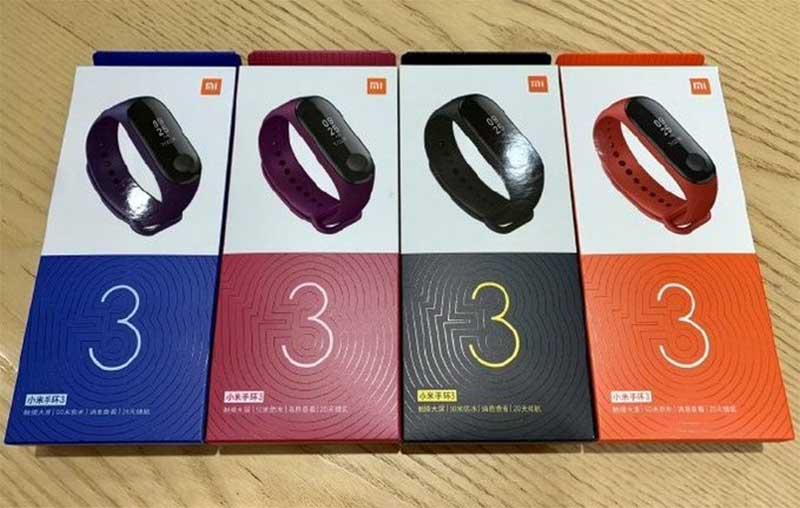 Xiaomi Mi Band 3 получил новую упаковку и новый цвет ремешка