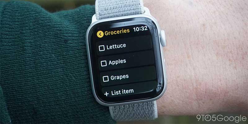 У приложения Google Keep появилась поддержка Apple Watch