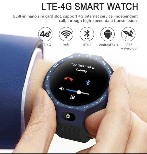 LEMFO LEM 9: умные часы с двумя процессорам, 4G, IP67 и 5 МП камерой