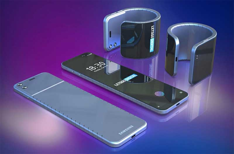amsung запатентовала гибкий наручный смартфон-часы