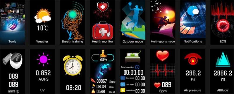 No.1 DT58: фитнес-браслет с ЭКГ, пульсометром и измерением артериального давления по бюджетной цене 3