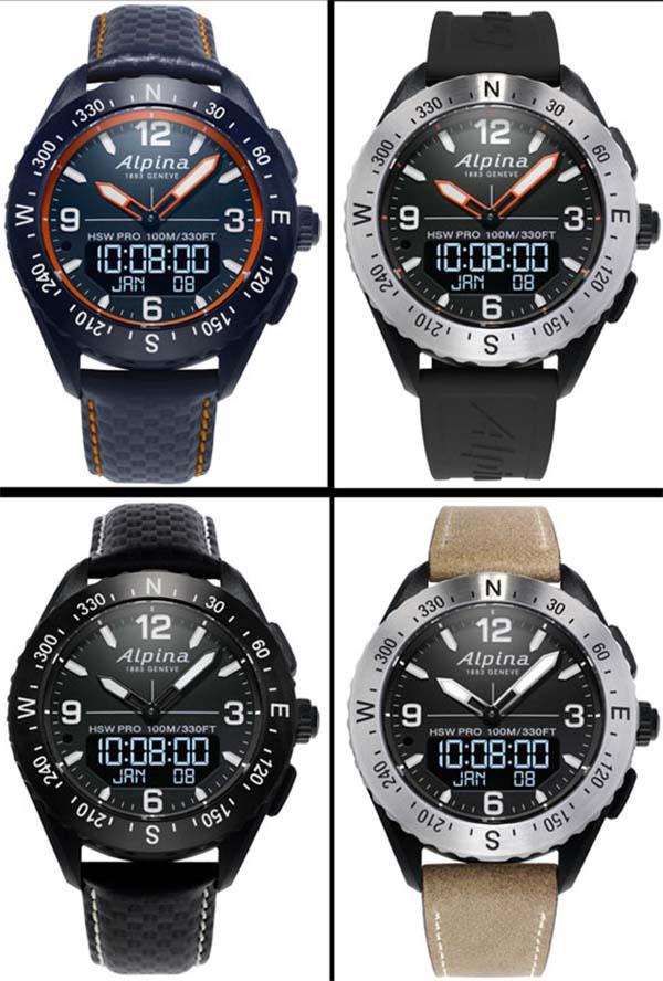 Гибридные часы Alpina AlpinerX 2019 года выйдут в 4 новых цветах