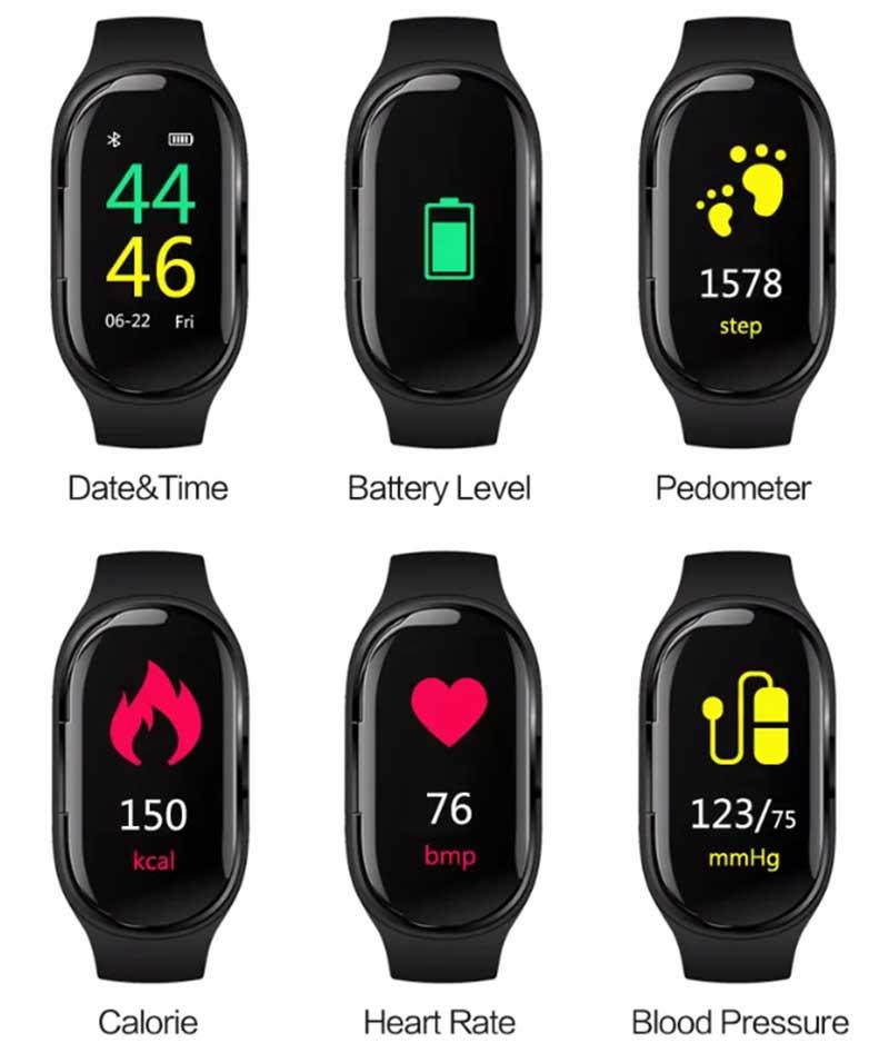 Bakeey SH30-L: фитнес-браслет с Bluetooth-наушниками внутри за 60$