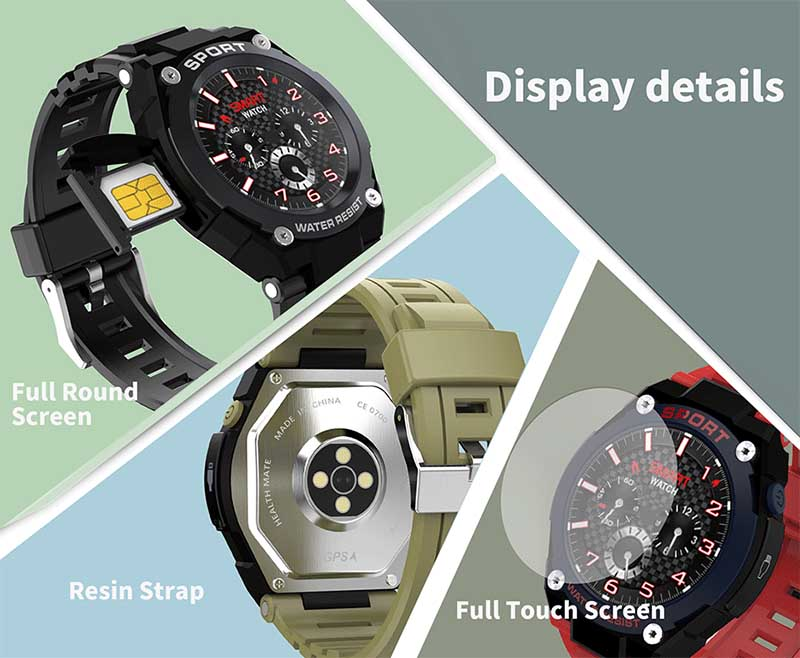 No.1 G9: новая версия умных часов с GPS, SIM-картой и измерением артериального давления
