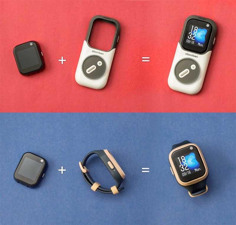 Novus: детские GPS-часы, смартфон и колонка в одном модульном устройстве