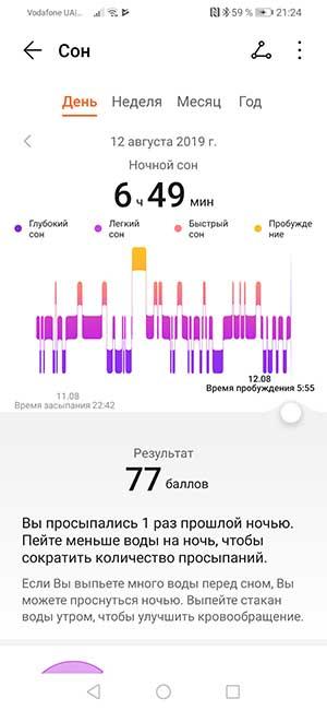 Обзор фитнес-браслета Huawei Honor Band 5 9