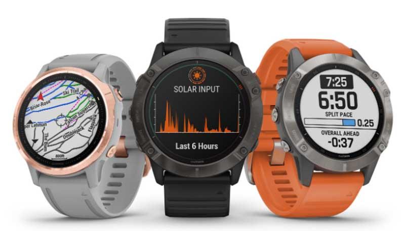 Garmin представила 19 вариантов умных часов Fenix 6, включая версию с зарядкой от солнца