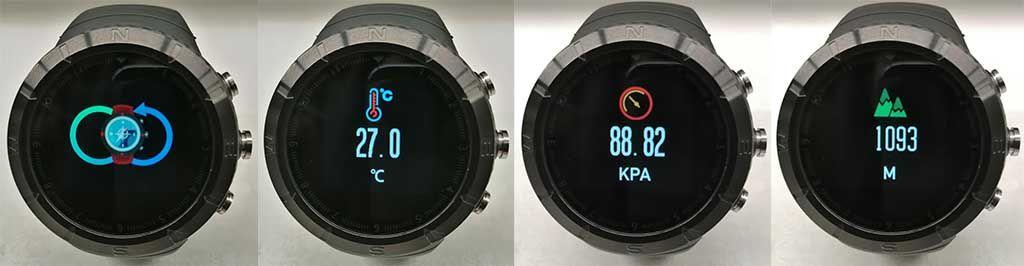 Компас, барометр, альтиметр и температурный датчик