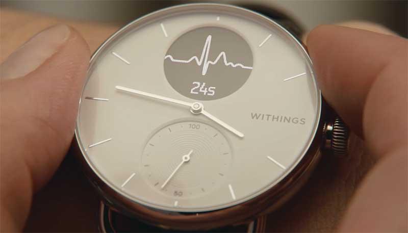 Withings ScanWatch – гибридные смарт-часы, умеющие выявлять аритмию и апноэ