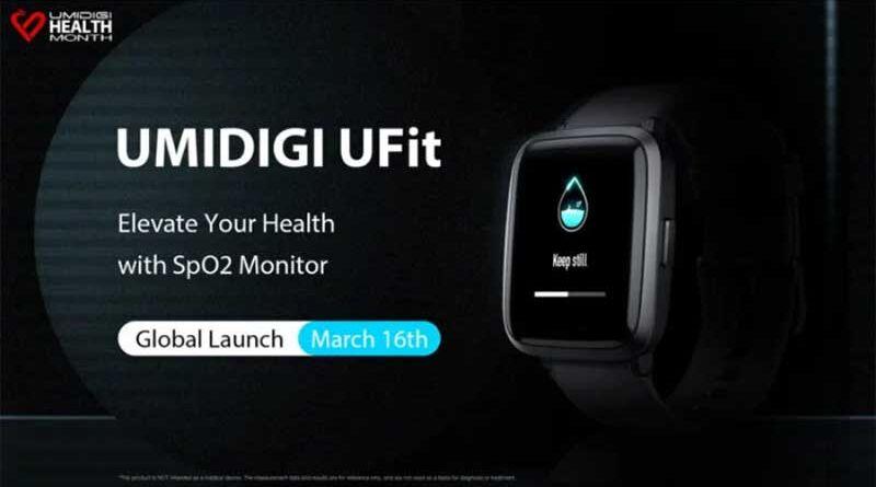 UMIDIGI анонсировала фитнес-часы UMIDIGI UFit с датчиком уровня кислорода