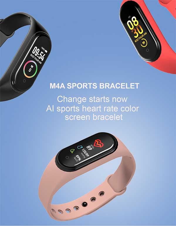 Smart Band M4 – самый дешевый фитнес браслет с тонометром