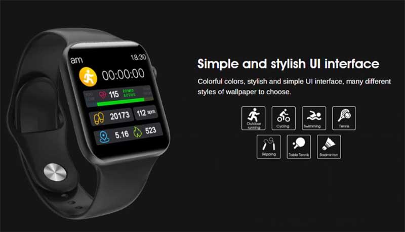 ELEPHONE W6 – супер тонкие смарт-часы в стиле Apple Watch за 39.99$
