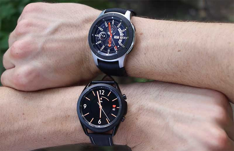 Samsung Galaxy Watch 3 vs Galaxy Watch: дисплей