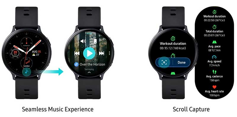 Samsung Galaxy Watch Active 2 получили некоторые функции Watch 3 1