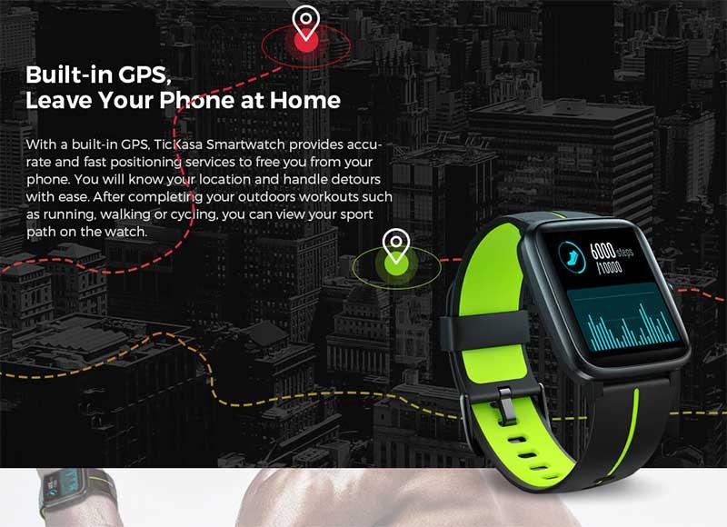 Mobvoi TicKasa: смарт-часы с 1,3-дюймовым экраном, GPS, защитой 5 АТМ и ценником $49,99 1