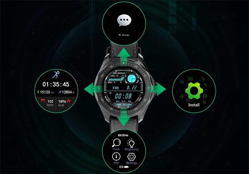 Управление устройством осуществляется с помощью свайпов и касаний экрана.