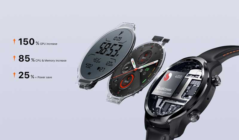 Mobvoi Ticwatch Pro 3: процессор Snapdragon Wear 4100, двойной экран и автономность до 45 дней 1