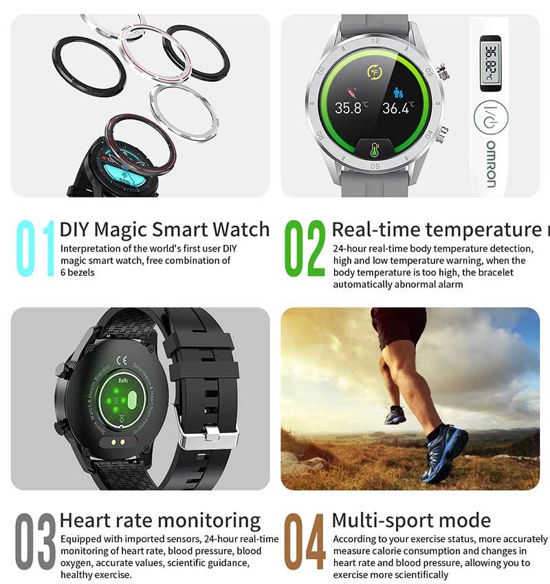 Fobase MAGIC: недорогие смарт-часы с измерением температуры, давления и кислорода 2